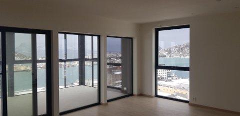 Det meste er på plass i de øverste etasjene. I juni skal alle leilighetene være ferdige i The Storm.