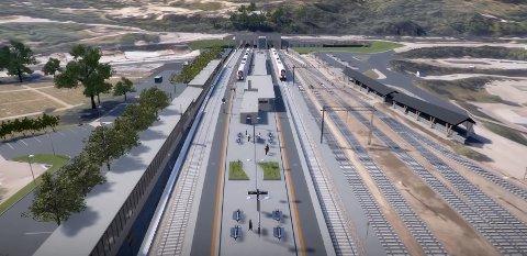 Slik vil Arna stasjon se ut etter ombyggingen.