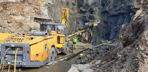 HOVEDENTREPRENØR: Bertelsen & Garpestad Tunneldrift er hovedentreprenør for Dvergfossen Kraftverk i Kvinesdal.