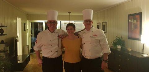 FLAKS: Cathrine Rønning ble den heldige vinneren av en tre-retters middag fra Meny i Horten.