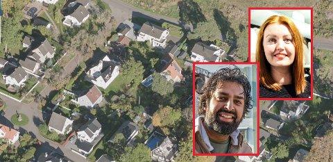 HISTORISK STRØK: Komiker Zahid Ali og samboeren, Therese Solberg, er opptatt av å bevare Apenes' egenart. Derfor har de innsigelser når naboen på østsida har planer om å bygge en ny bolig på tomta.