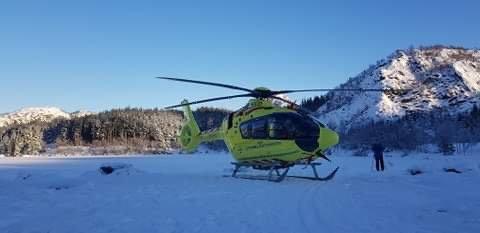 Legehelikopter i Brekko torsdag 14. januar.