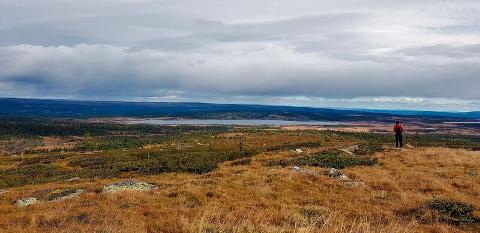 SNØRVILLEN: På toppen av Snørvillen er utsikten flott, 995 meter i over havet.
