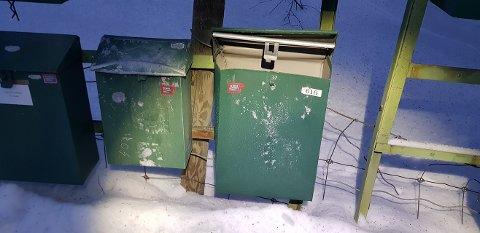 Postkassa til Mina Øihusom i Sjårdalen så slik ut i går. Hun er ikke den eneste som har fått den ramponert i Vågå i desember.