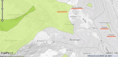 - Vil DNT være bekjent av å være en organisasjon som sletter de siste rester av urørt natur i Norge? spør Arnt Orskaug. Grønne områder på kartet, er såkalt urørt natur.