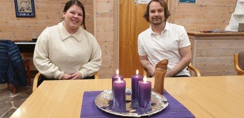 JUL I LUNNER: Mari og Stian prest ønsker velkommen til julefeiring i Lunner og Grua kirke