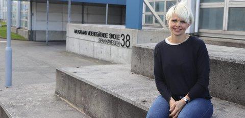 REKTOR: Solveig Rossebø Kalstad på Haugaland videregående skole.