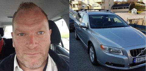 FIKK FRASTJÅLET BILEN: Jan Tore Tjoland Snares Volvo V70 med registreringsnummer SU 73531 forsvant fra Skudenesgata natt til søndag