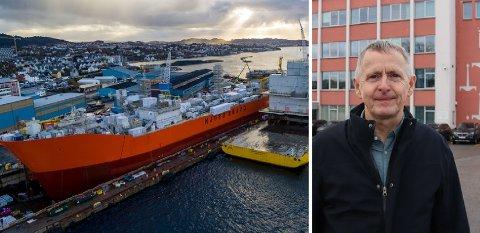 VIRUSUTBRUDDSTOPP: Aibel har stanset prosjektet på «Njord Bravo». Verftsleder Ole Sandvik håper på oppstart igjen neste uke