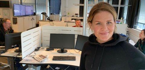 Nyhetsredaktør Linn Kristin Djønne gleder seg over opplagsutvikling for Laagendalsposten.