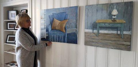SKYGGER: Evy Helgasdatter Basma jobber bevisst med skygger og fargespill.