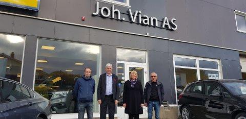 Børge Olsen, Oddvar Antonsen, Anita Jacobsen og Kristian Olsen.