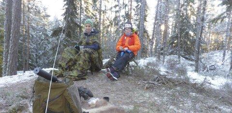 På post: Tobias Eggesvik og Tobias Kirkeng var på post søndag morgen.