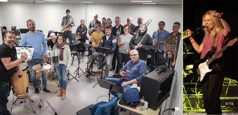 SLÅR SEG SAMMEN: Namdal storband og Tora Dahle Aagård skal spille to konserter sammen i Namdalen i slutten av oktober.