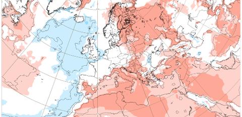 VÆRPROGNOSE: Sesongvarselet fra europeisk forsknings og værvarseltjeneste er klar.