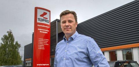 Krevende: Daglig leder Thomas Frydenlund har ledet en krevende nedbemanningsprosess der staben er redusert med ni personer. ARKIVbilde