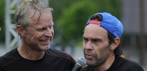 TIDLIGERE KOLLEGAER: Åge Skinstad (til venstre) og Åge Skinstad hadde en vennskapelig dyst i Birkebeinerløpet. FOTO: ØYSTEIN RINGSVEEN