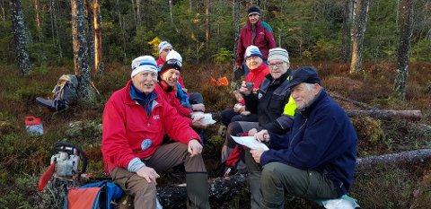 UTEN MAT OG DRIKKE: Siden høsten 2018 har Sørmarkas arbeidsgruppe (SAG) i Skiforeningen Sørmarka stått på for å rydde løypetraseene i Gaupesteinmarka