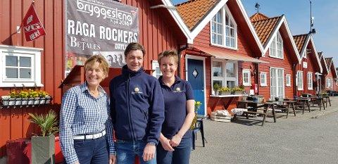 SPENTE: Anna Ingeborg Haaland (f.v), Roymond Bjerkholt og Tove Marthinsen gleder seg til å åpne dørene til det nye bygget en gang i mai.