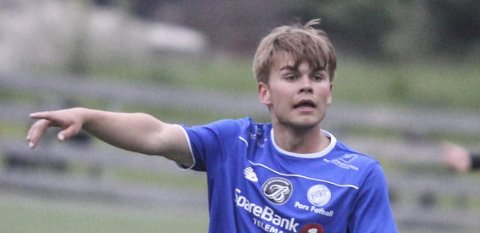 I gang: Kenneth Kristiansen er i gang for Langesund.