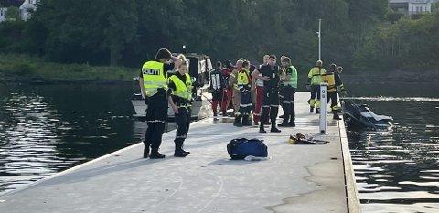 FRA OSLO: Mannen som kjørte i brygga på Herøya med vannscooter søndag er fra Oslo.