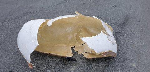 Egget er funnet, men er så ødelagt at det ikke kan repareres.