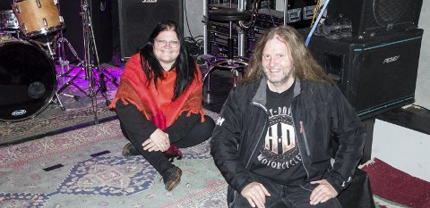 Ambolt Rock: Vanja Nilsen og Kenneth Pedersen er ildsjelene bak Ranas nye konsertarrangør, Ambolt Rock.foto: inger gretasdatter