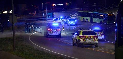 AKSJON: En person er pågrepet etter en stor politiaksjon på Trondheimsveien ved Holt Vestvollen natt til fredag.
