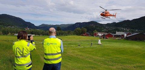 KVIKKLEIRE: Helikopteret skal brukes til å kartlegge et større område i Nannestad.