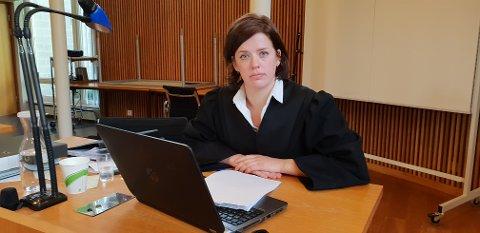 AKTOR: Politiadvokat An Eline Rimstad Johansen la ned påstand om samfunnsstraff for alle de tre tiltalte, samt at de bør betale høye erstatningssummer.