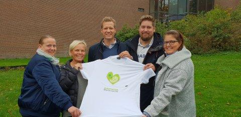 KFU: Her ser vi styret i Sandefjord KFU (fra venstre) Trine Eriksen, Anette Hvidtsten, Christian Ulvin Berg, Ole Kristian Høijord og Anne Friis-Olsen. Pål Tychesen og Monica Haugen sitter også i styret, men er ikke med på bildet.
