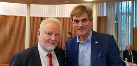 MØTTES: Ordfører Bjørn Ole Gleditsch har møtt den nye sorenskriveren i Vestfold, Jørn Holme, flere ganger – senest i Sandefjord tingrett denne uka.