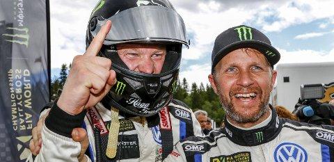 TEAMKOMPISER: Johan Kristoffersson og Petter Solberg ARKIVFOTO