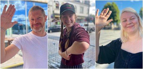HILSING: Tommy Flåterud, Hannah Flittig Aardalen og Birthe Rosland.