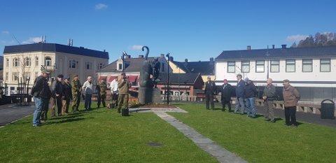TIL MINNE: Frigjørings- og veteranmarkeringen ble holdt på Torvet som alltid.