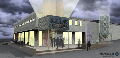 Rådmannen i Kristiansund vil at foreningen Kulturfabrikken skal få gå videre med sine planer. Tegning: Norconsult Solem:arkitektur