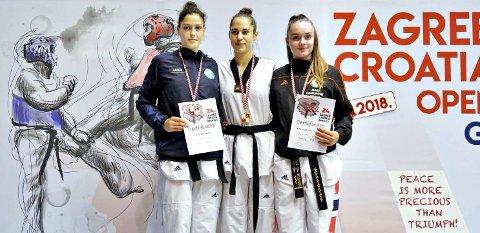 Pallen: Mari Romundset Nilsen (til høyre) ble nummer tre i verdenscupen i Kroatia nylig.