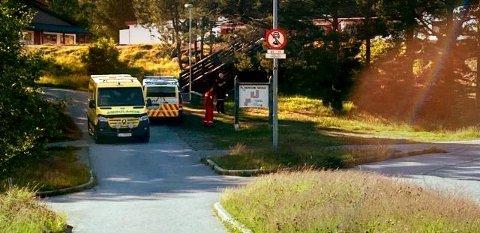Det var et stort oppbud av politi som rykket ut til Rensvik skole etter at det kom melding om at to personer, en mann og en kvinne, hadde blitt truet til å gi fra seg lommebøker og mobiltelefoner.
