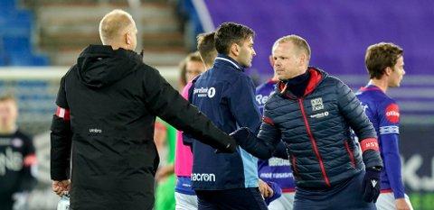 VIF-trener Dag-Eilev Fagermo er sterkt kritisk til at Bodø/Glimt reiste på treningsleir i utlandet, og slår tirsdag fast at han ikke ønsker å møte nordlendingene i treningskamp før sesongen. Oppfordring om å si nei til fjorårets suverene seriemester går nå til de andre lagene - blant annet KBK og Christian Michelsen - som holder seg hjemme. (Arkivfoto)