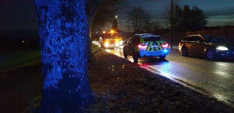 ULYKKE: Tre biler kollidert ved Kjærkrysset i Åsgårdstrand.