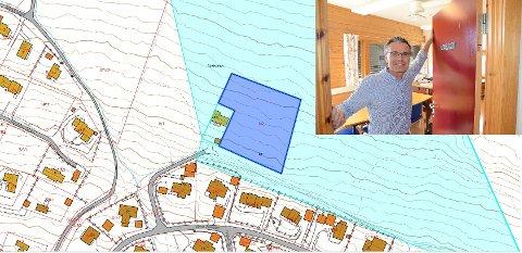 Tomt i LNF-område: Planområdet er på ca. 5,6 dekar, eller då 5.600 kvadratmeter. Det er gjort avtale med grunneigarane Nils Nøbben og Terje Hålimoen om opsjon på ei tomt på 3788,7 kvadratmeter på gnr./bnr. 5/2, med sikte på å få løyve til å byggje hus på denne tomta.Tomta 5/20 til venstre er med i planområdet og er ikkje LNF-område (0,6 dekar).