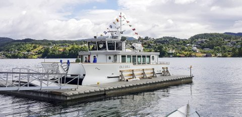Her er den nye båten som skal frakte gjester til og fra Lysøen.