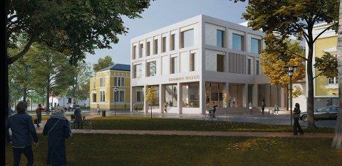 Det nye tinghuset skal bygges på Gamle Kirkeplass hvor Rica Park hotell lå tidligere.