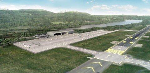 Her er en illustrasjon av området for de nye maritime patruljeflyene som skal bygges på Evenes i løpet av neste år.