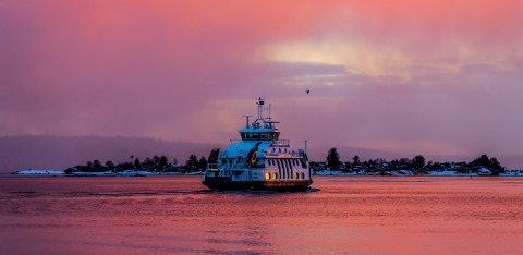 Ferja Kongen fra Fjord 1 fotografert i Oslofjorden. Foto: Stian Lysberg Solum / NTB scanpix