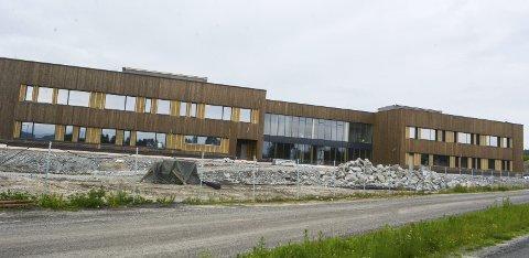NY SKOLE: Bjørkelangen skole bygges for 320 millioner kroner. Kapasiteten blir på 640 elever fra 1. til 10. klasse. Alle foto: Anne Enger Mjåland