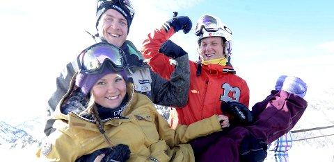 NÅ HAR ALLE GITT SEG: Stian Sivertzen (t.v.) og Christian Ruud Myhre var sammen med Helene Olafsen noen av verdens fremste brettcrosskjørere. Nå har alle gitt seg. Bildet er tatt på Stubaital-breen i Østerrike i 2013. ALLE FOTO: OLE JOHN HOSTVEDT