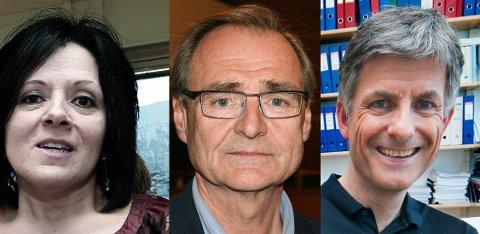 HELSETOPPENE: Marit Lind, viseadm. direktør ved UNN, Helse Nord-topp Lars Vorland og UNN-sjef Tor Ingebrigtsen.