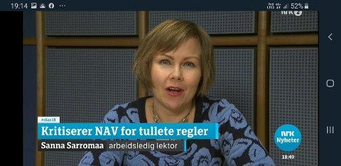 Dagsnytt 18 på NRK og Nyhetskanalen på TV2 har hengt seg på Nav-diskusjonen som ble sparket i gang av Sanna Sarromaa i en kronikk i VG.
