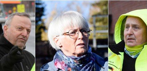 KAFFE OG MAT: Knut Stubben (KrF) ønsket seg en kaffekopp, Lise Bye Jøntvedt (H) var bekymret for bytrafikken, mens Roger Larsen (Frp) tenkte på familiene.